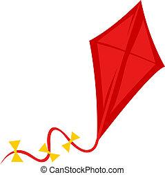 cerf volant, rouges