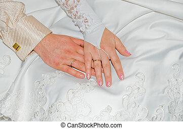 cerimônia, após, casamento