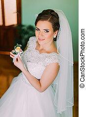 cerimônia, igreja, noivo, tradicional, noiva, casório, feliz
