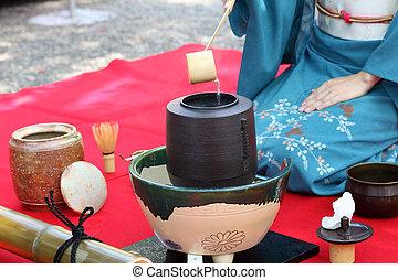 cerimônia, japoneses, chá