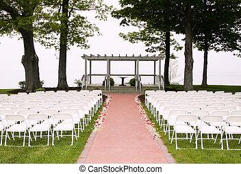 cerimônia, preparação, casório