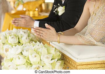 cerimônia, tailandês, casório