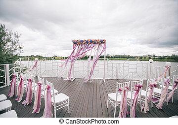 cerimonia, arco, matrimonio
