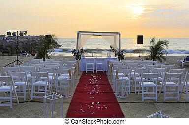 cerimonia, decorazione, matrimonio spiaggia
