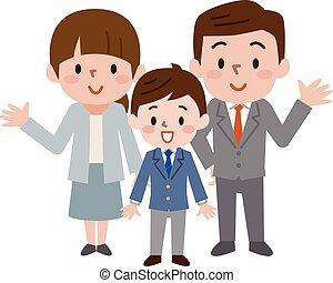 cerimonia, entrata, scuola, japan's, alto, minore