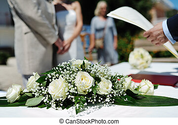 cerimonia, matrimonio, luna miele, receptionist, mani