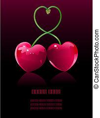 cerise, amour
