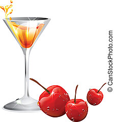 cerise cocktail, vue