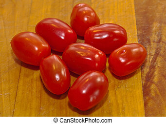 cerise, huit, tomates