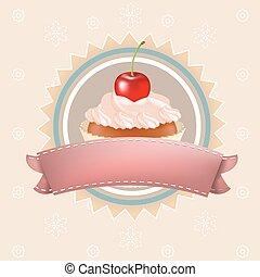cerise, petit gâteau