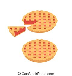 cerise, tarte fraise, ou