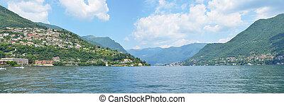 Cernobbio town at Como lake, Italy