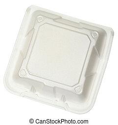 cerrado, alimento, vista, contenedor, cima, styrofoam