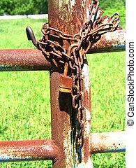 cerradura, oxidado
