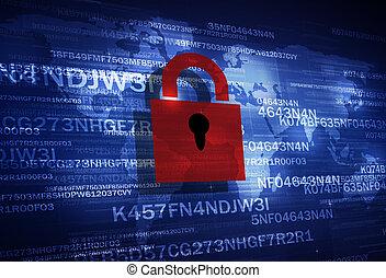 cerradura, seguridad, codificación