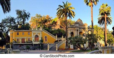 Cerro Santa Lucia in Downtown Santiago, Chile. - Cerro Santa...