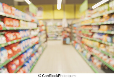 Certain department with goods at store