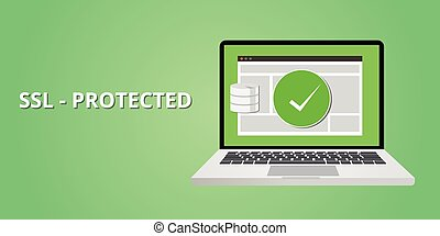 certifié, ssl, protection