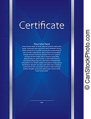 certificaat, diploma