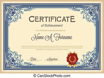 certificado, de, logro