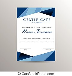 certificado, de, logro, plantilla