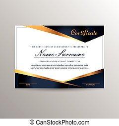 certificado, de, realização, modelo