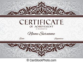 certificado, de, realização
