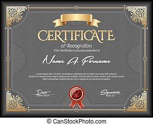 certificado, de, reconhecimento, vindima