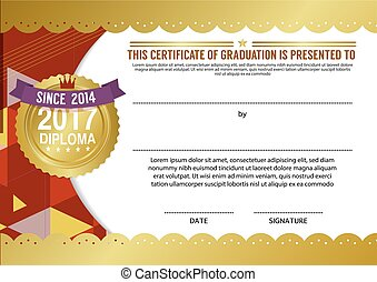 certificado, diploma, modelo, em branco