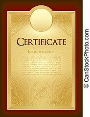 certificado, -, diploma, premio