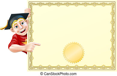 certificado, graduado