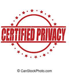 certificado, intimidad