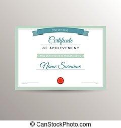 certificado, modelo