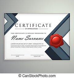 certificado, modernos, formas, espantoso, desenho, modelo, ...