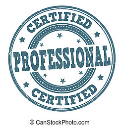 certificado, profesional, estampilla