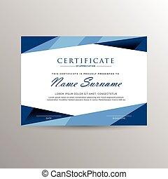 certificado, realização, modelo