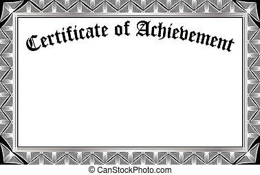 certificado, realização