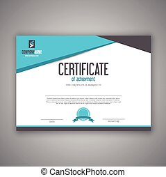 certificat, conception