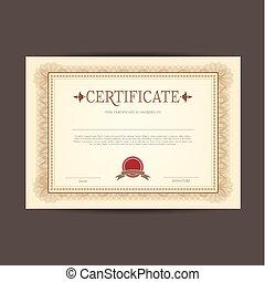 certificat, conception, fond