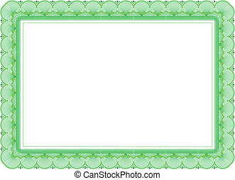 certificat, dans, vert, couleurs