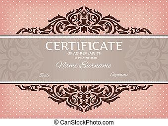 certificat, de, accomplissement