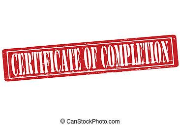 certificat, de, achèvement