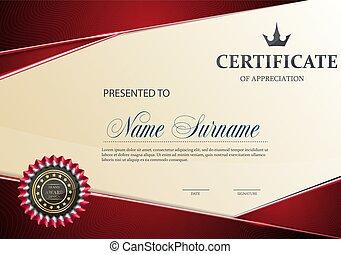 certificat, de, appréciation, template.