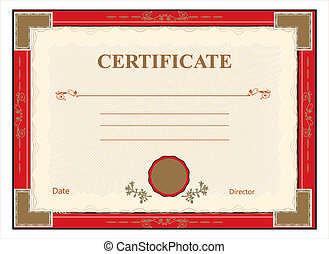 certificat, diplôme, pour, impression, vect