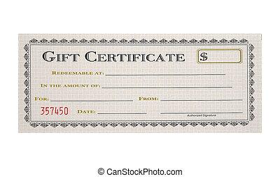 certificat don