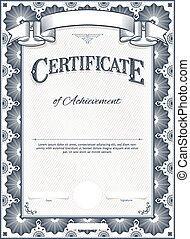certificat, gabarit