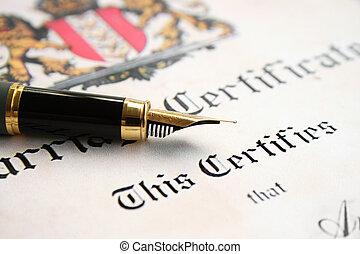 certificat mariage