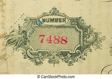 certificat, nombre, 7488