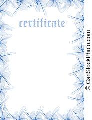 certificat, &, série, —, gabarit, impression, remplir