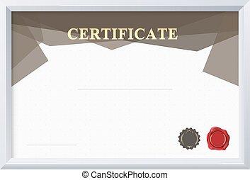 certificat, vecteur, frontière, illustration, template.